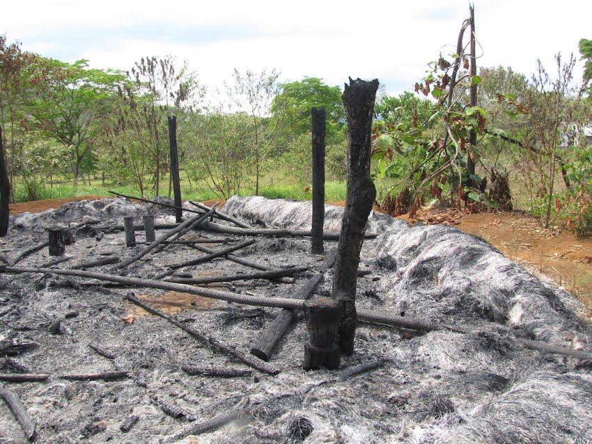 Cenizas de la quema
