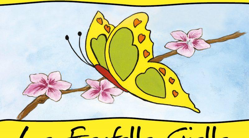 Mariposas amarillas que vuelan liberadas